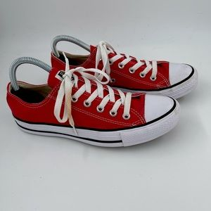 NEW! Converse All Stars Red Low Top Sneakers 7